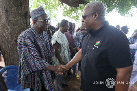 Mr Mahama visited Mr Bagbin and his family at Sombo near Wa to commiserate with them
