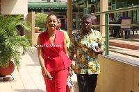 Jean Mensa with Dr Bossman Asare