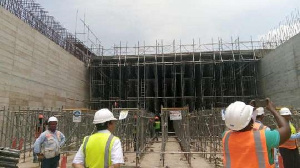 Major concrete works on the project were 85 per cent complete