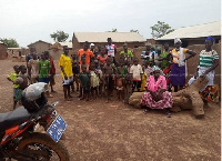Some displaced women and children in Chereponi