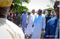 Vice President and the National Chief Imam at Abossey Okai Central Mosque yesterday