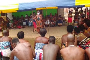 The Keta Directorate of the NCCE visited some traditional shrines