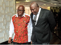 Akufo-Addo (l) appointed Martin Amidu (r) first-ever Special Prosecutor