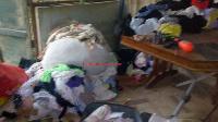 Ransacked residence of an ex military officer