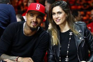 Kevin-Prince Boateng and wife Melissa Satta