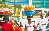 File photo: Hawkers on the streets