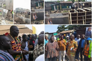 Scenes from the presidents inspection of the ongoing works
