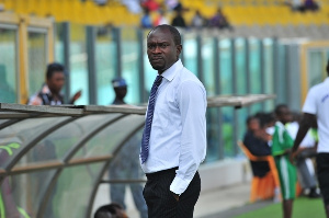 CK Akonnor was on duty on Monday as the Black Stars trained at the Accra Sports Stadium