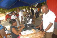 Voter registration exercise.     File photo.