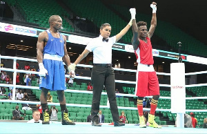 Sulemanu Tetteh has qualified for the Quarterfinals of the Men's Flyweight