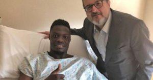 Ekuban underwent surgery to correct a foot injury