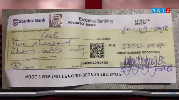 Captain Smart's bounced cheque to a woman he owes pops up. 49