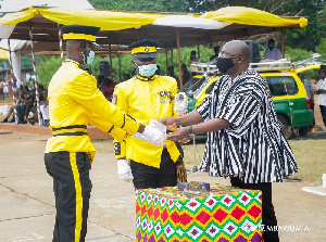 Dr. Mahamudu Bawumia, at the Graduation and Commissioning Parade of the cadets