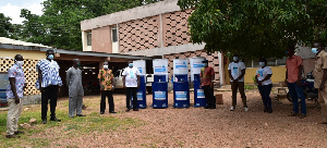 WaterAid Ghana, DFID UK) and Unilever have presented washing facilities to Local Assemblies