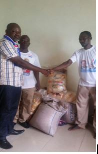 Bags of rice and sugar were donated to Muslim community in Daboya.