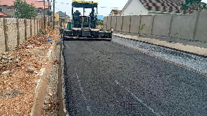 A Section Of The Road Being Constructed