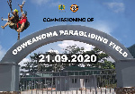 Odweanoma paragliding field commissioned, busts unveiled