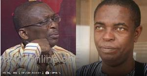 Senior journalists Abdul-Malik Kweku Baako and Kwesi Pratt Jr