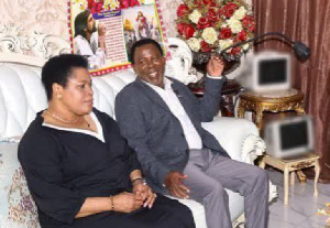 The late TB Joshua and his wife, Evelyn Joshua