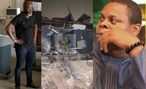 Franklin Cudjoe (insert R) is shocked these things still happen in Ghana