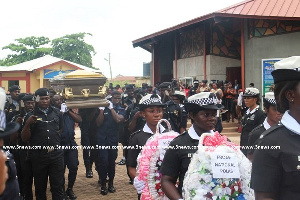The well attended funeral service held at the Holy Cross Cathedral in Tamale