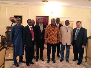 Asantehene Otumfuo Osei Tutu II (2nd right) in group picture