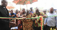 President Akufo-Addo commissions the new health administration block at Asunafo North