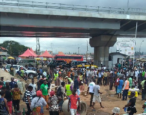 AMA's demolition exercise took place at the Kwame Nkrumah Circle