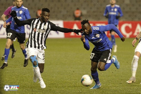 Ghana's Kwabena Owusu hits target as Qarabag FK rally to draw against Sumqayit FK