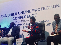 Awo Aidam Amenyah, Executive Director of J. Initiative speaking at an event