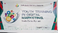 The laptops were used to train the youth in Digital Marketing