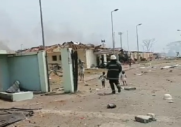 Blast started with a fire at the Nkoantoma Military Base in the coastal city of Bata