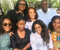 The Electoral Commissioner was accompanied by GHOne TV Newscaster, Nana Aba Anamoah and Sandra