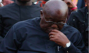 Akufo-Addo is said to have come close to tears after traveling on the Hamile road