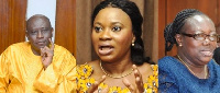 Charlotte Osei and her two deputies have been relieved of their duties