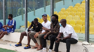 Muntari, Kwarasey, Afriyie Acquah and William Amamoo at stadium