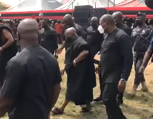 President Nana Addo Dankwa Akufo-Addo at Sir John's funeral