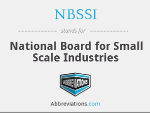 National Board For Small Scale Industries (NBSSI)