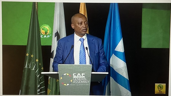 CAF president Patrice Motsepe arrives in Accra for a two-day visit