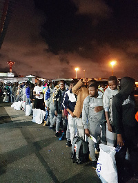 The 150 Ghanaians travelled from Libya to their homeland on Nov. 24