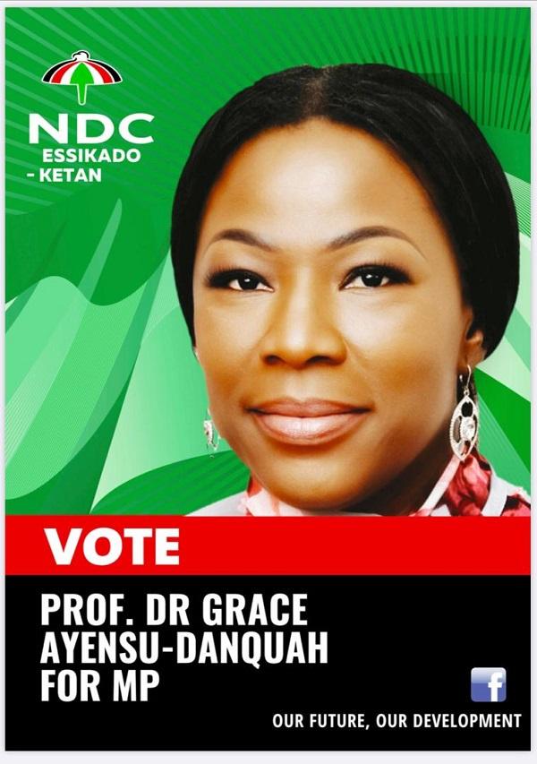 NDC parliamentary candidate for Essikado-Ketan, Prof. Dr. Grace Ayensu-Danquah