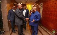 Former President, John Mahama and President Nana Addo Dankwa Akufo-Addo