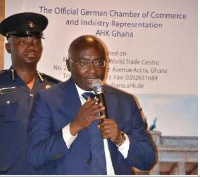 Vice President Bawumia speaking at the event