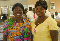 GFP's Akua Donkor (L) and running mate  Mrs Patricia Asante (R)