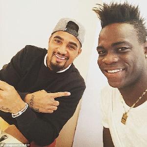 Kevin Prince Boateng and Mario Balotelli