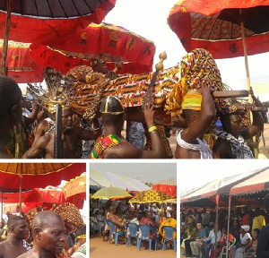 Daasebre Akuamoah Agyapong II called on the youth of Kwahu Afram Plains to avoid violence