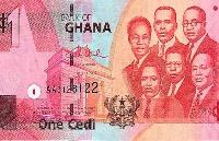 One Ghana cedi note