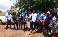 GJA Execuitves and Koans Estate Officials cutting sod for the commencement of the project