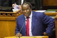 South African Minister of Finance Tito Mboweni delivers his 2019 Budget Speech
