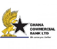 Ghana Commercial Bank logo.      File photo.